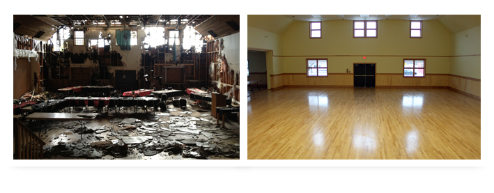 damage before and after